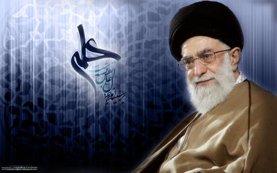 a wallpaper of supreme leader, syed Ali Khamenei