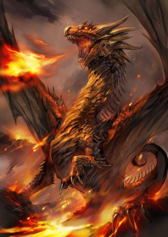 fire drake by sansyu on deviantart