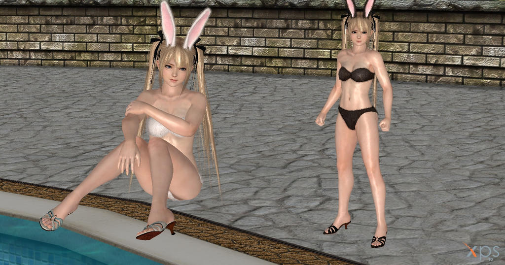 Dead or alive Marie Rose Bunny ( downloads link ) by Gwen35500