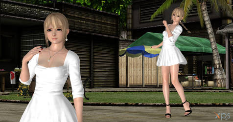 Dead or alive Marie Rose Robe Blanche( link dl ) by Gwen35500