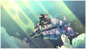 Pokemon water race - Golisopod 49 by Arcamira