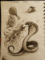 Ink/Drawtober 2018 - 03 - Roasted