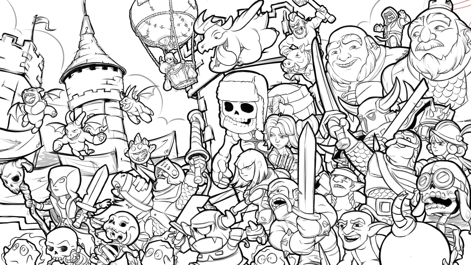 clash royale tribute (WIP) by ninjakimm