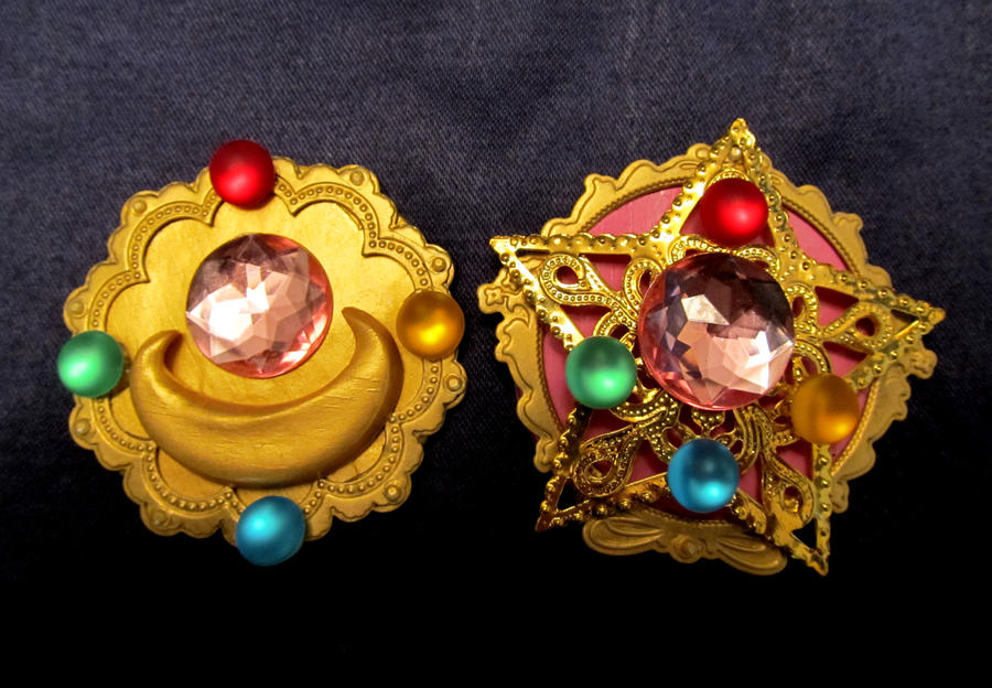 Sailor Moon Brooches by iambrose777