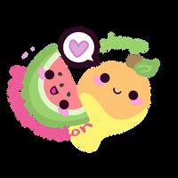 Watermelon Mango Store Logo by kittykatklub1