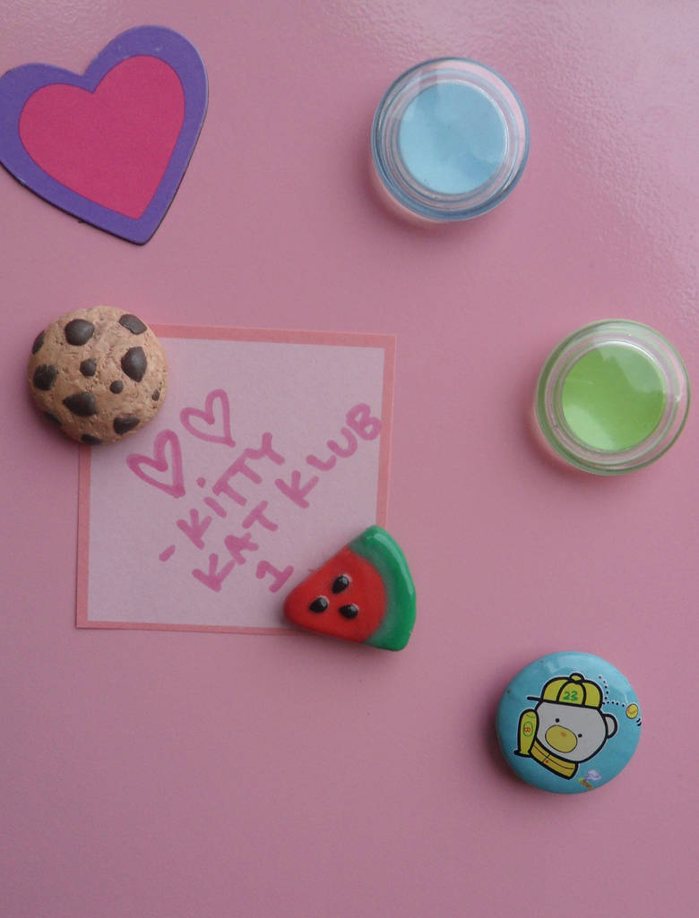 Cookie and Watermelon Magnets