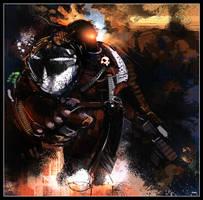 Black Templar Sketch by Falcon-