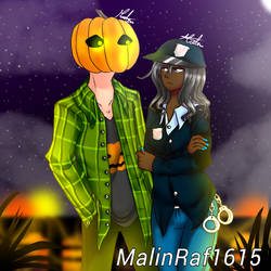 MCSM: Halloween with Olivia and Axel by MalinRaf1615
