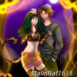 MCSM: Halloween with Maya and Aiden by MalinRaf1615