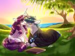Sunset Reading by MalinRaf1615