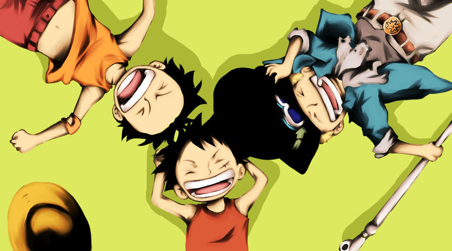 One Piece- Luffy,Sabo and Ace by Kagame-kun on DeviantArt