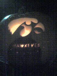 Iowa Hawkeyes Carving by WONDERFULLnightTOdie
