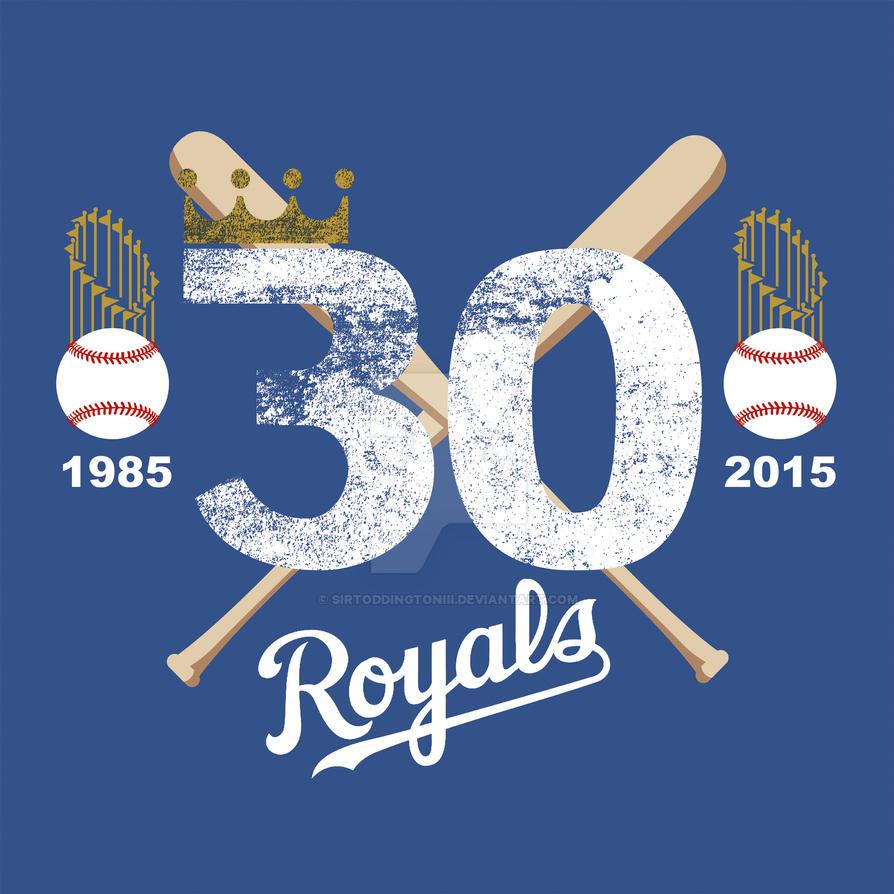 Royals 30th Anniversary World Series art by SirToddingtonIII