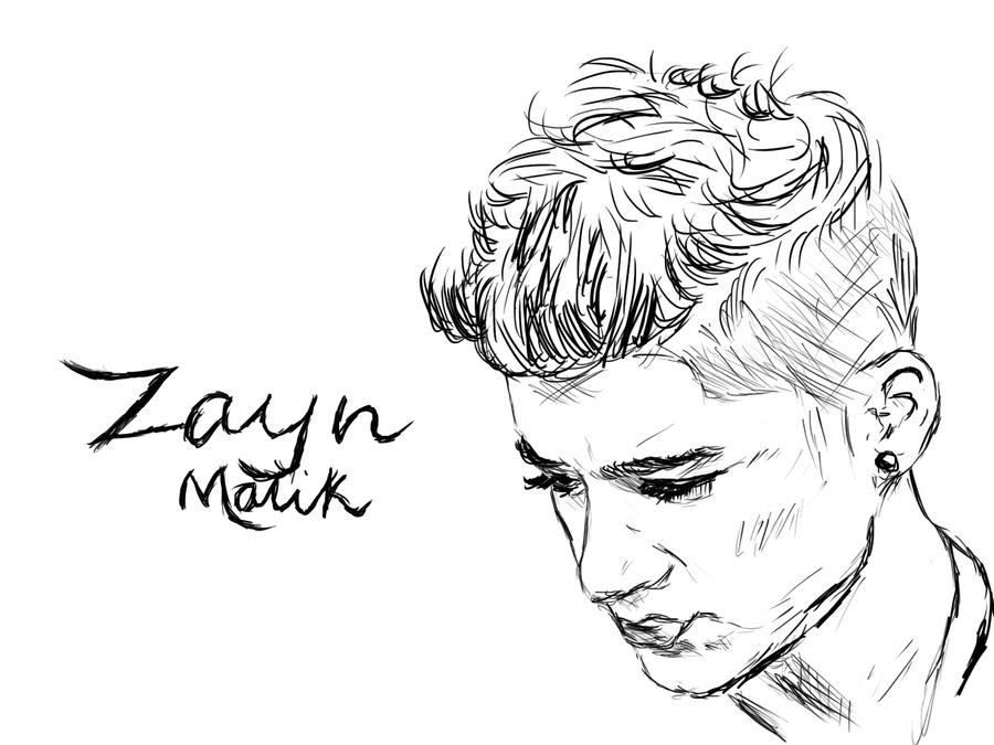one direction coloring pages cartoon animals | Zayn Malik Sketch Wallpaper by lavenderflower23 on DeviantArt