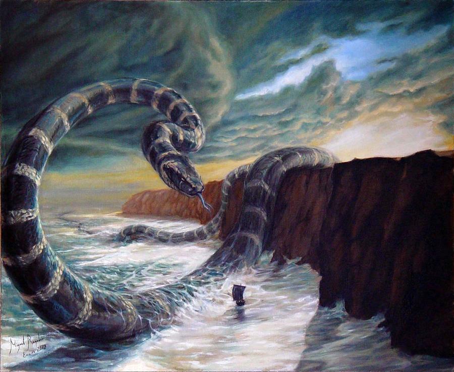 Jormungand, Son of Loki by MiguelRegodon