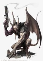 Pathfinder- Adamantine Gargoyle by MiguelRegodon