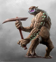 Rock Troll Miner by MiguelRegodon