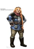 Tales of Arcana, Female Dwarf by MiguelRegodon