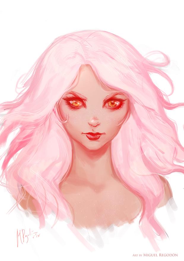 Pink Hair Girl by MiguelRegodon