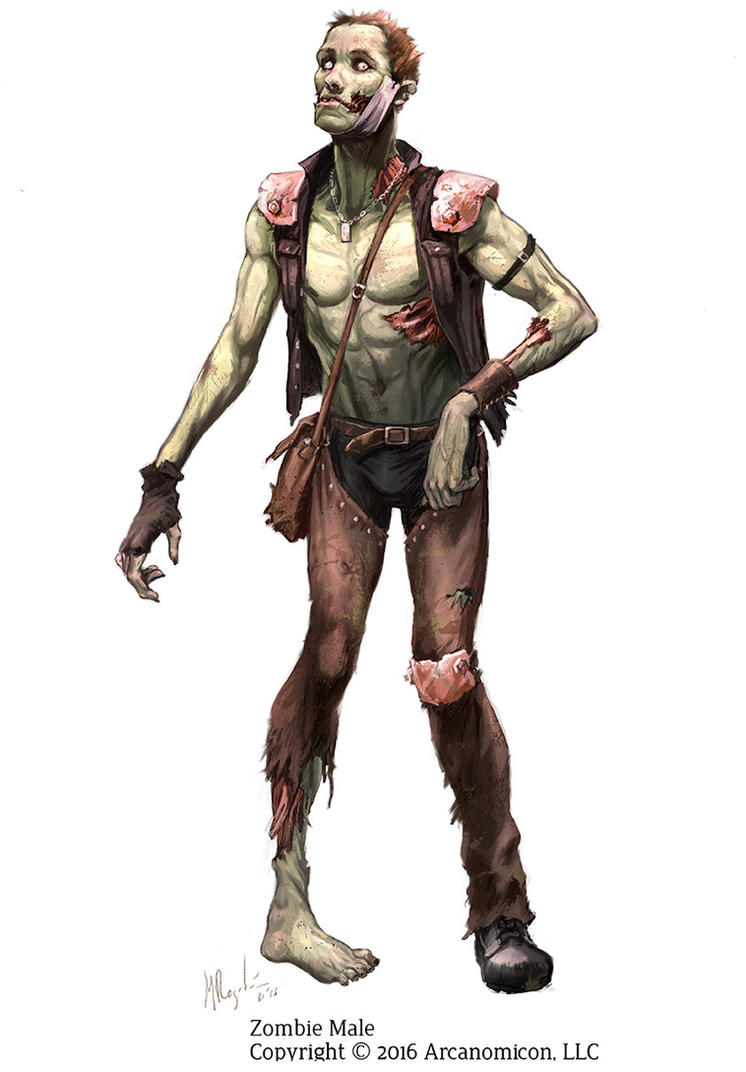 Tales of Arcana- Male Zombie by MiguelRegodon