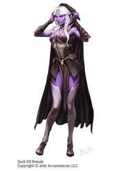 Tales of Arcana - Female Dark Elf by MiguelRegodon