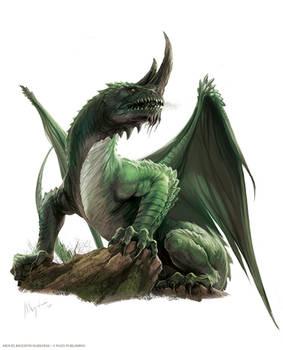 Ancient Green Dragon, Pathfinder Bestiary 2ed