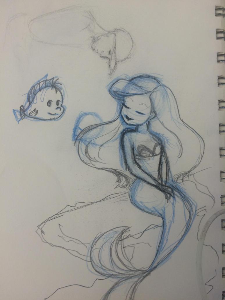 Daily Sketch - Ariel by CuteGio