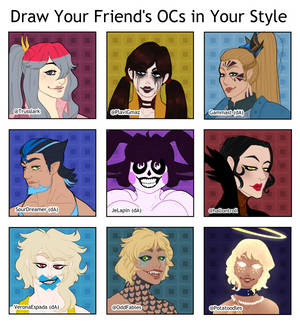 Draw Your Friend's OCs in Your Style Meme