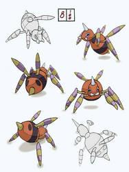 Practice pokemon sketches 8/100 by Knightlight9