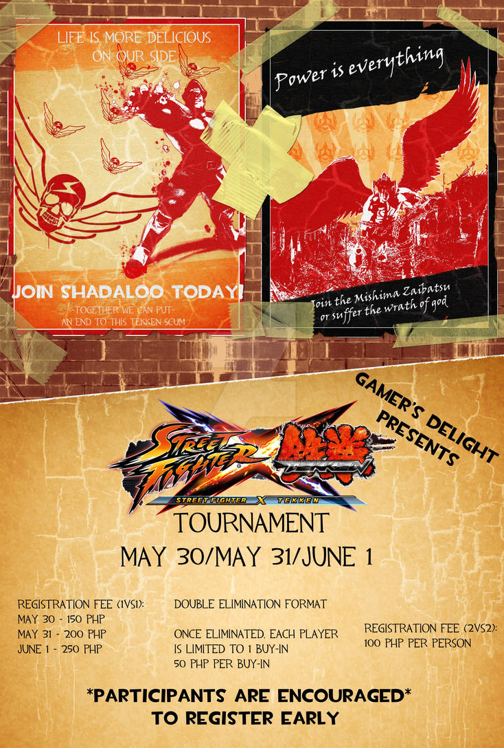 SF X TK Tournament Poster by The-Red-Jack03