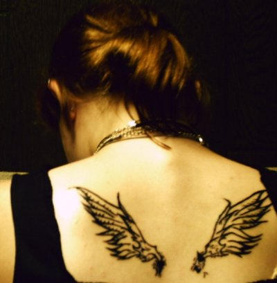 Winged - dragonfly tattoo