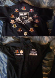 call of duty XP shirt with all badges
