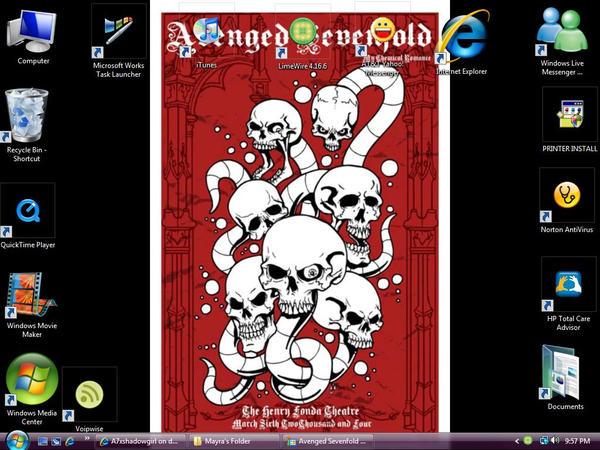 My A7x desktop by A7xshadowgirl