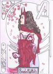 The Scarlet Witch_art nouveau