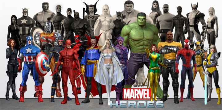 Marvel Heroes Characters that have been VU by RylerRyno