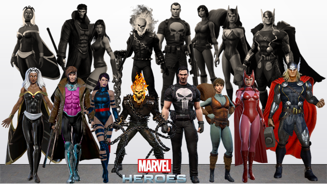 Marvel Heroes Characters that have been VU  2 by RylerRyno