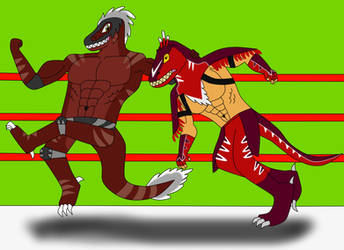 Roug VS King of Dinosaurs by DIMASTHEFOX