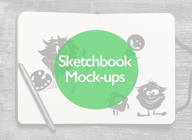 10+ Free PSD Sketchbook Mockups