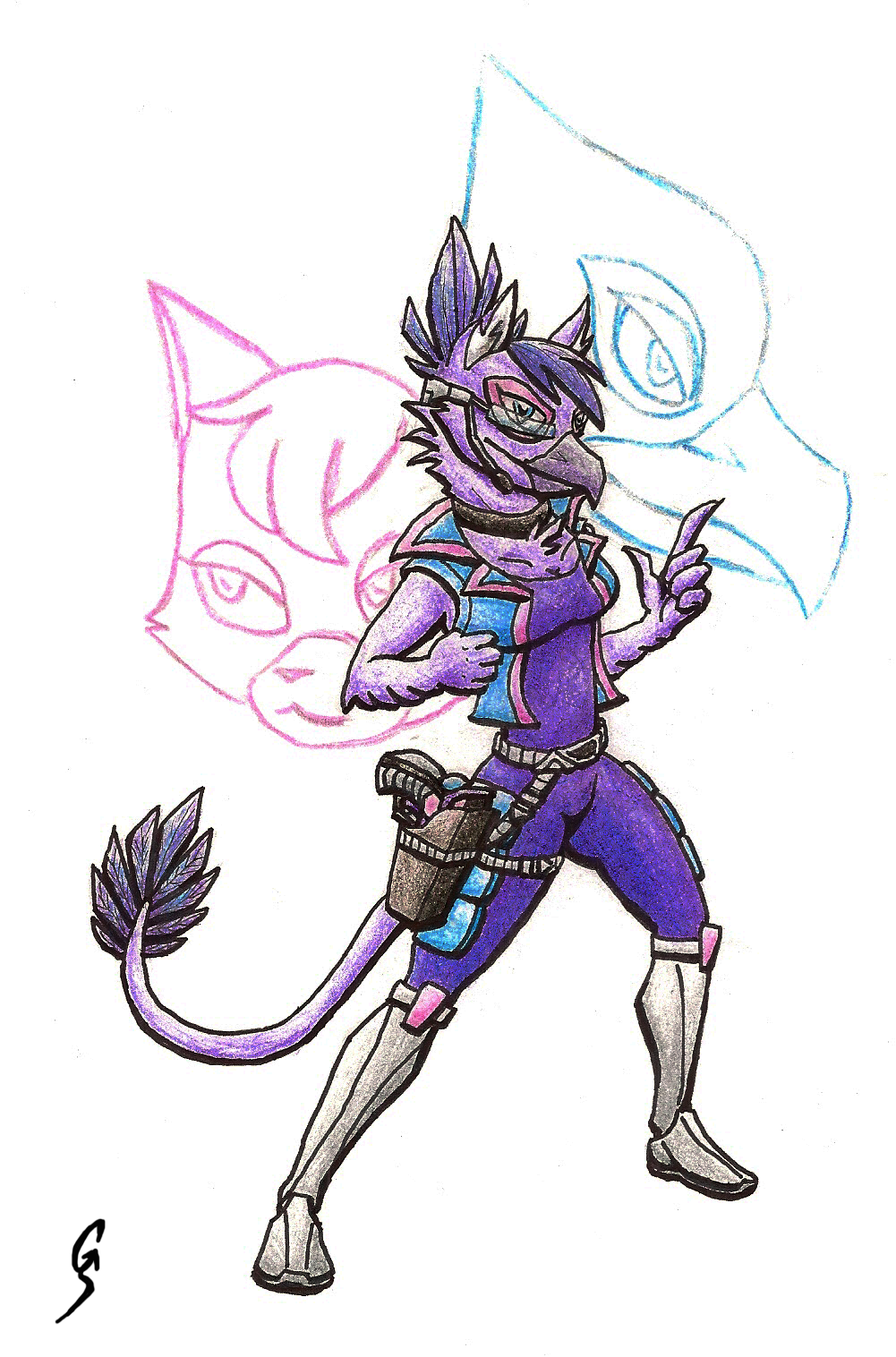 Star fox falco and katt