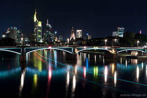 Line of light to Frankfurt by naturtrunken
