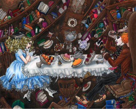 Tea Party Down the Rabbit Hole