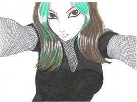 anime me color pencil version by MaliciousMisery