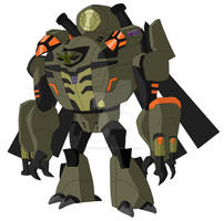 Animated Blackout-Earth Robot