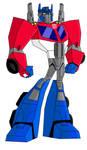 Animated Optimus Prime-Rescue Bots