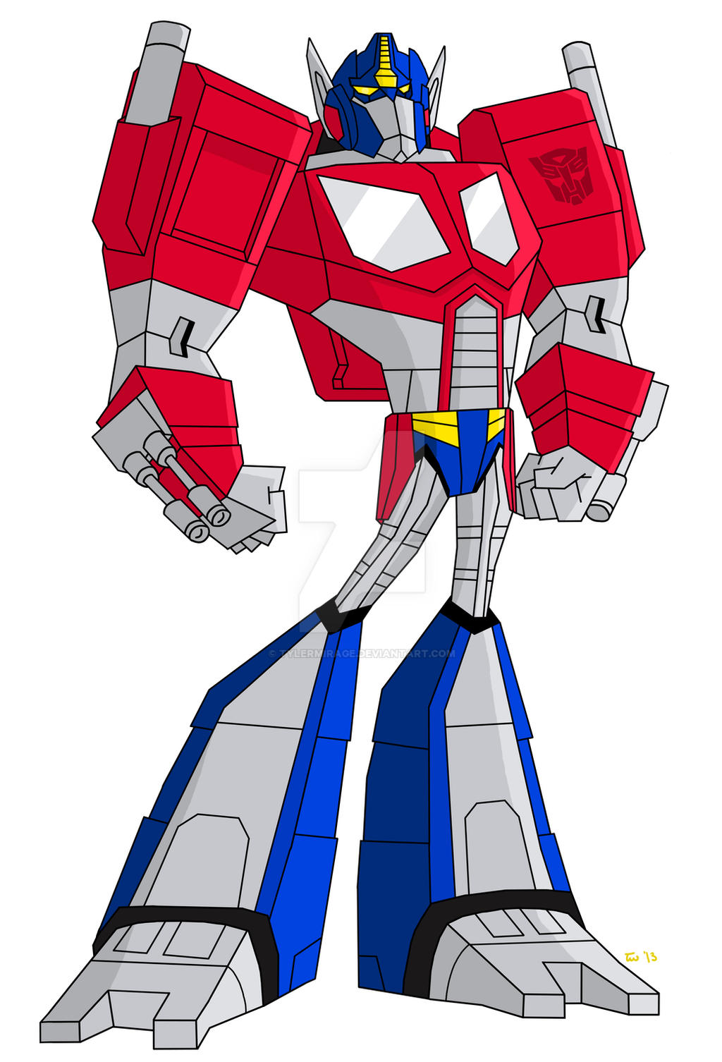 Animated Optimus Prime-Armada Cybertronian Form by TylerMirage on ...