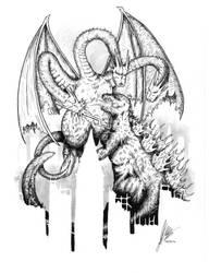 Godzilla vs King Ghidorah by JordanWilliamsArt