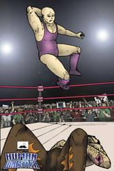 Human Wrestler promo poster by JordanWilliamsArt