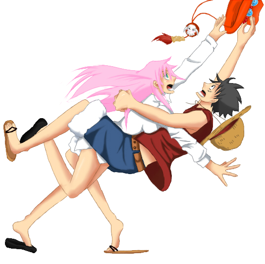 One piece catch rin x luffy by ukecloud on deviantart - One piece luffy x robin ...