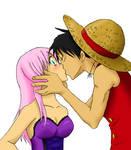 One Piece - Rin x Luffy - Kiss