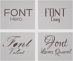 4.FONTS// by Yeonseb